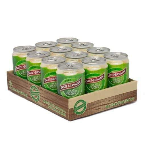12 packs of Taste Nirvana Real Coconut Water 10.5 ol oz can