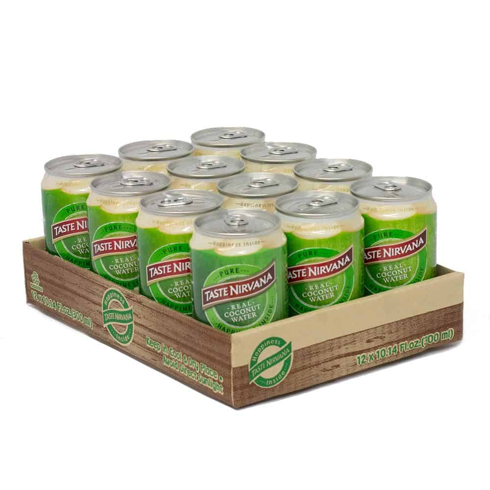 12 packs of Taste Nirvana Real Coconut Water 10.5 ol oz can